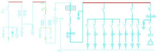 箱式变电站 一次系统图